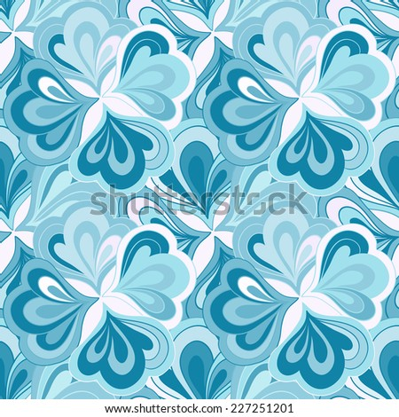 Vector doodle hand drawn abstract colorful seamless floral pattern