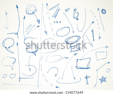 vector doodle symbol design elements