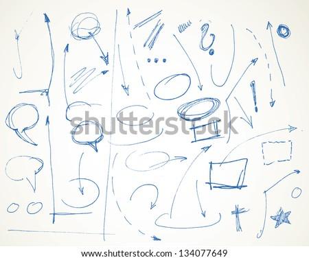 vector doodle symbol design elements - stock vector