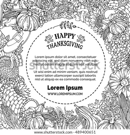 Seamless Thanksgiving Pattern Corn Cornucopia Grape Stock ...