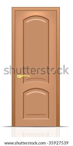 Vector door. To see more great vectors go to my portfolio... - stock vector