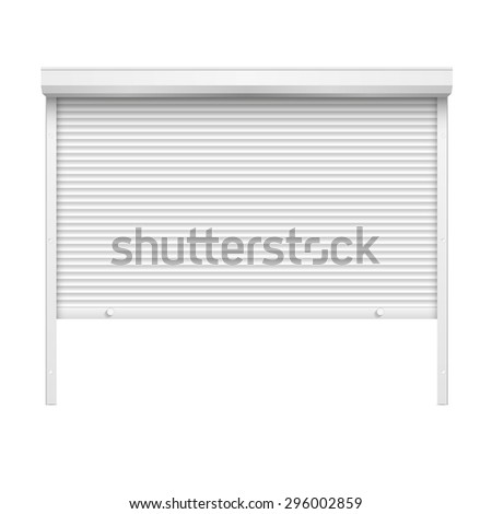 Vector Door with Rolling Shutters - stock vector