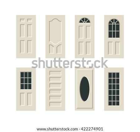 vector doors set - stock vector