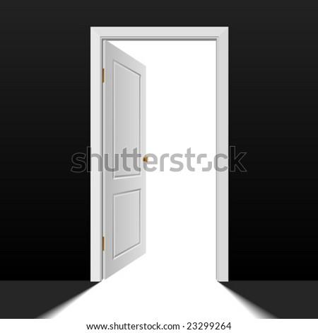 Vector doorway - stock vector