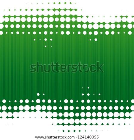 vector dot green background - stock vector