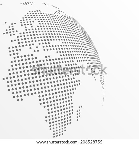 Vector dotted globe - stock vector