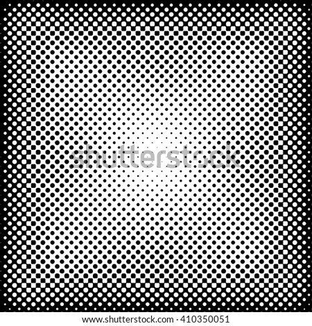vector dotted halftone raster background - stock vector