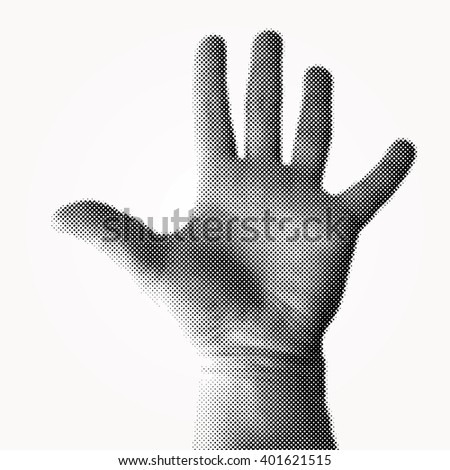 vector dotted halftone raster hand