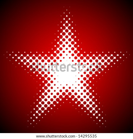 Vector dotted star element - stock vector