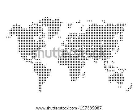Vector dotted world map stock vector 157385087 shutterstock vector dotted world map gumiabroncs Gallery
