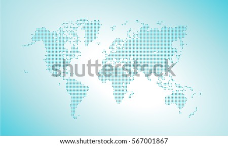 Vector dotted world map vector illustration stock vector 567001867 vector dotted world map vector illustration template for website design annual reports infographics gumiabroncs Images