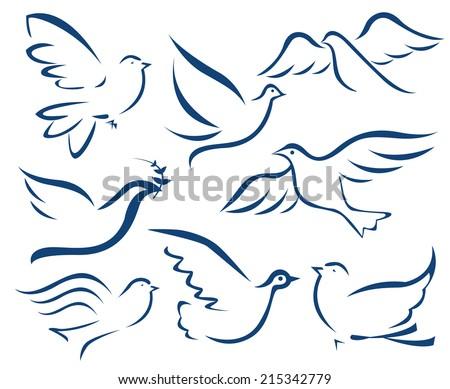 Vector dove symbol - stock vector