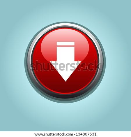 vector download button - stock vector