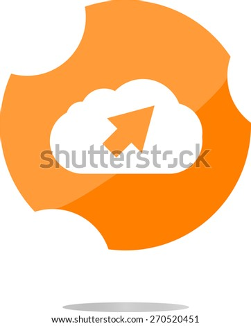 vector Download from cloud icon. Upload button. Load symbol. Modern UI website button, flat vector web icon isolated on white - stock vector