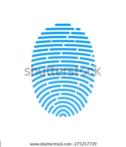 Vector drawing fingerprint symbol. - stock vector