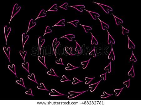 Line Drawing Heart Shape : Vector drawing heart shape stock  shutterstock
