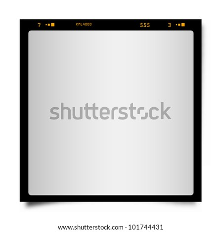 Vector drawing of a black instant photo frame. - stock vector