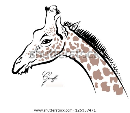 how to draw back view of giraffe