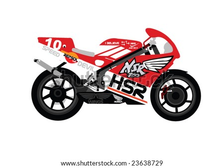 Vector drawing of a super bike