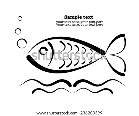 Fish Pattern Drawing Vector Drawing of The Abstract