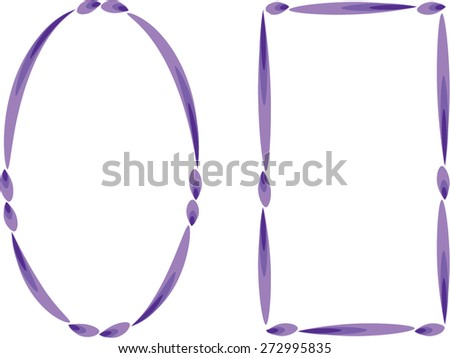 vector drawing oval and rectangle border