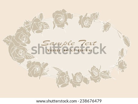 vector drawing roses,Greeting card with roses, watercolor, can be used as invitation card for wedding, birthday and other holiday and summer background. Vector illustration.