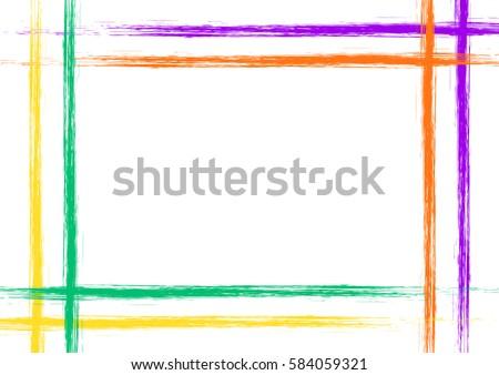 Drawn Background Frame Border Grunge Pink Stock Illustration ...