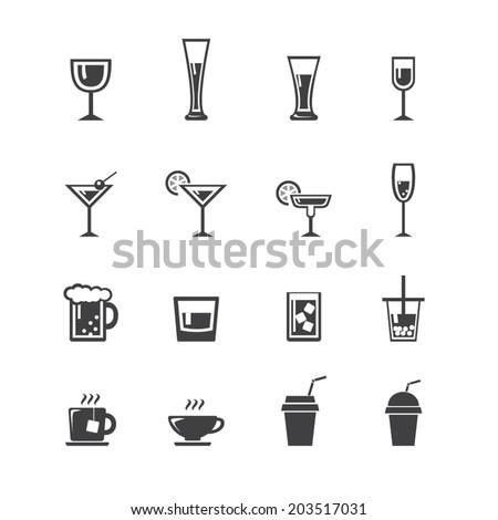 vector.drink icon set - stock vector