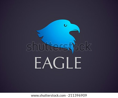 vector eagle head logo icon - stock vector