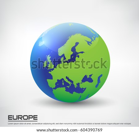 Earth globe icon map europevector world vectores en stock 599246924 vector earth globe icon globe with map of europe gumiabroncs Choice Image