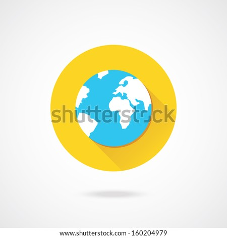 Vector Earth Icon - stock vector
