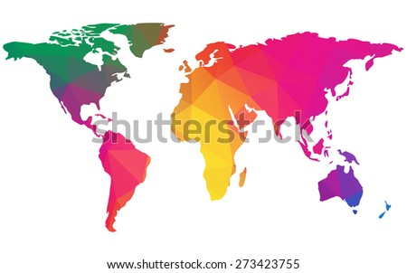 Earth texture stock images royalty free images vectors vector earth map with colorful polygon texture isolated on white background elements of this gumiabroncs Image collections