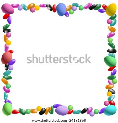 Vector Easter candy border - stock vector