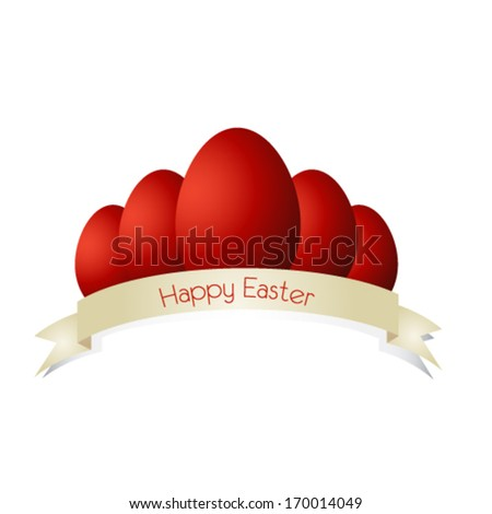 Vector easter egg card - stock vector