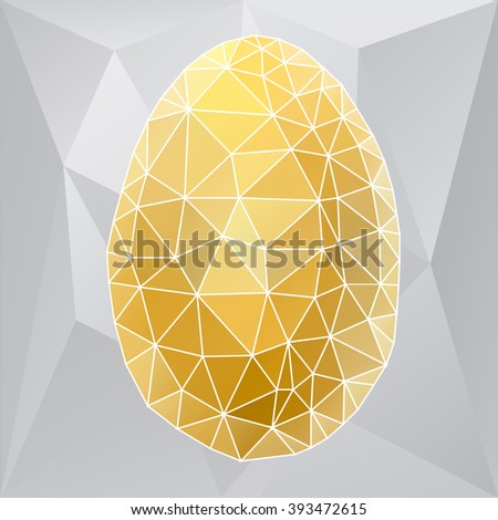 Vector Easter egg. Polygonal vector.
