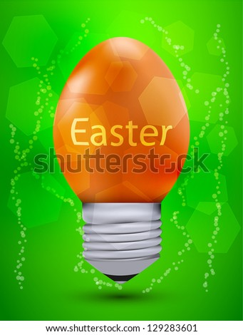 vector easter idea. Eps10 - stock vector
