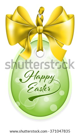 Vector Easter tag.  - stock vector