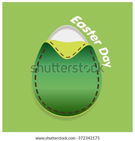 Vector Easter tag. Egg banner. Festive background. Decorative illustration for print, web - stock vector