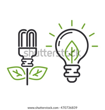 Vector eco energy icon sign. Energy icon power environment nature. Renewable energy icons. Electricity nature eco renewable industry. global Energy icon, eco save sign