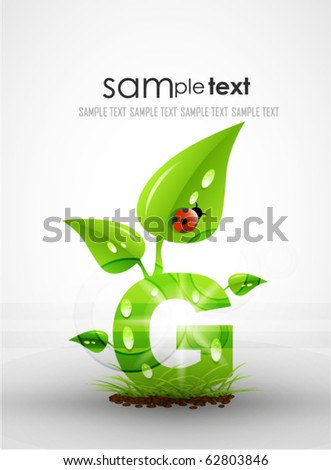 Vector eco letters. Environmental background