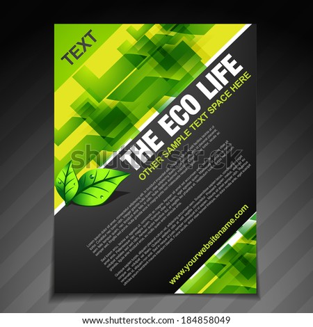 vector eco life brochure flyer design  - stock vector