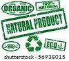 Vector eco stamp set - stock vector