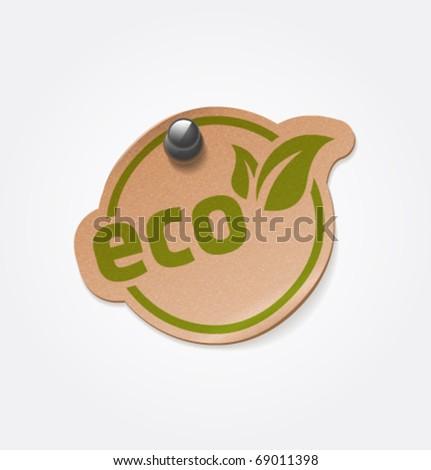 Vector eco sticker. - stock vector