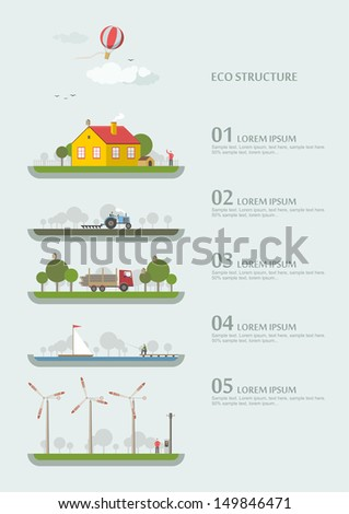 Vector - eco structure - stock vector