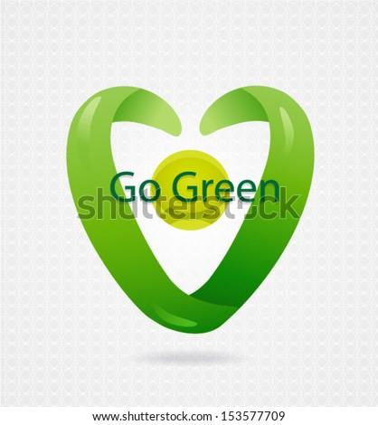 Vector eco symbol. Abstract SPA Health beauty logo template. Abstract globe icon. Go Green. Business abstract icon. As sign, symbol, web, label. Vector illustration. Eps 10 - stock vector