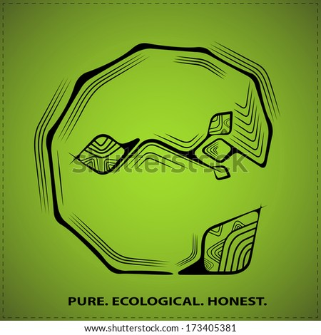 Vector eco symbol, sign of ecology, peace and purity - stock vector