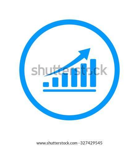 Vector economic icons. Flat design style eps 10 - stock vector