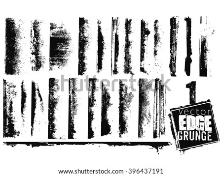 Vector edge grunge isolated - stock vector
