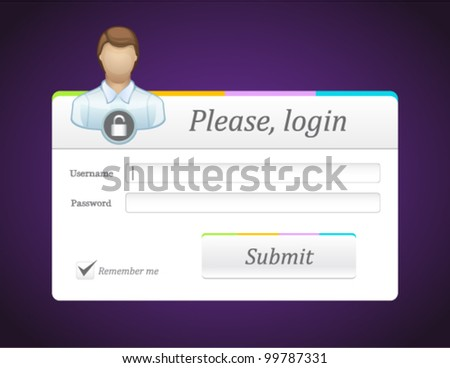 Vector editable contact form with person icon - stock vector