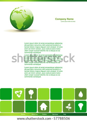 vector editable earth design page - stock vector